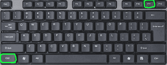 Keys combination for Windows
