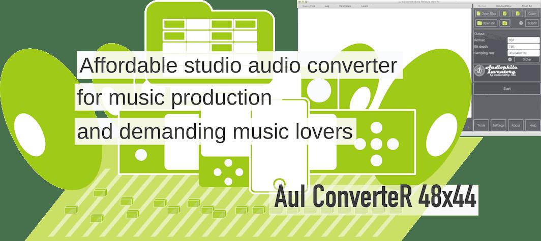 HD Audio Converter ISO DFF DSF FLAC WAV AIFF mp3 - AuI