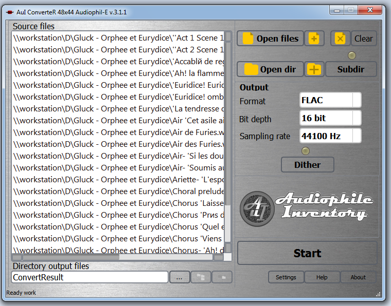 Sample rate converter AuI ConverteR 48x44