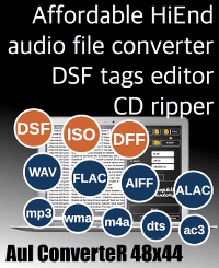 AuI ConverteR 48x44 - HD audio converter and CD ripper