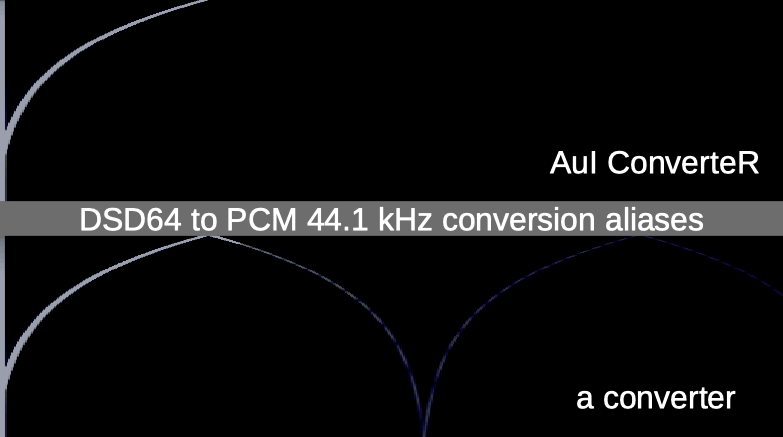 AuI ConverteR vs a converter software: DSD64 to PCM 44.1 kHz
