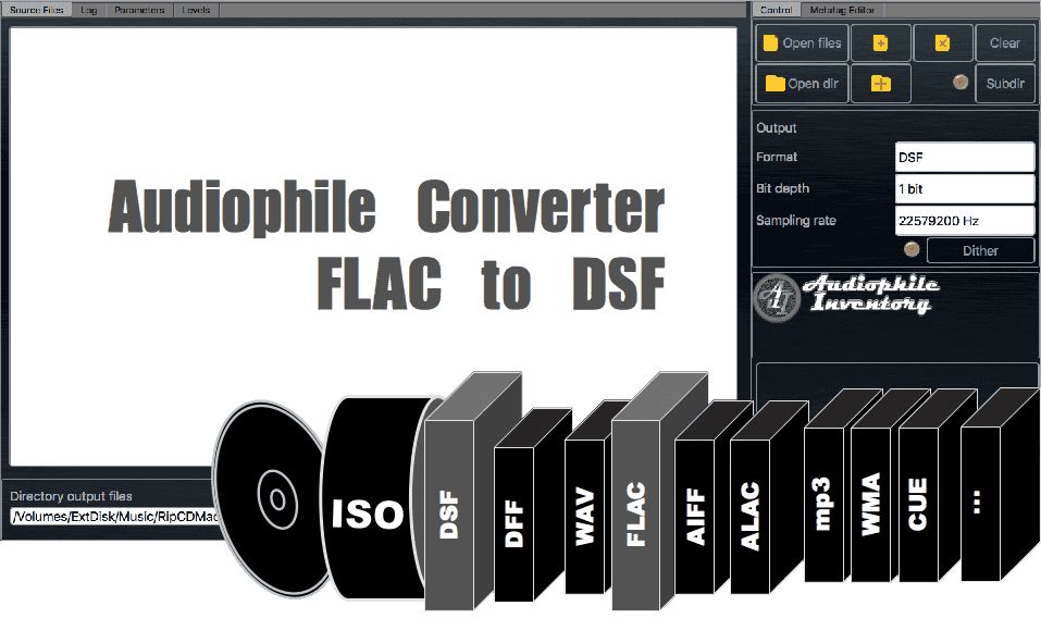 FLAC to DSF Audio Converter - AuI ConverteR 48x44