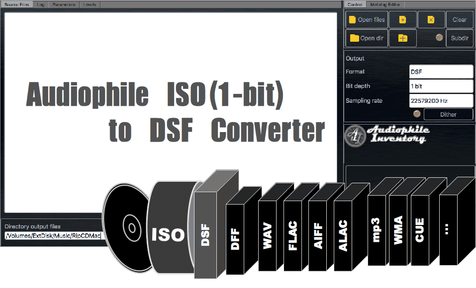 ISO (aka SACD ISO) to DSF DFF Converter Software | Mac Windows [AuI
