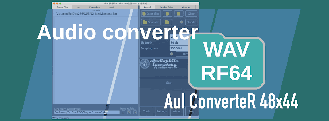 How to convert 64-bit WAV (RF64) and BWF [Mac Windows]
