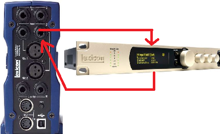 Connecting audio processor to sound card