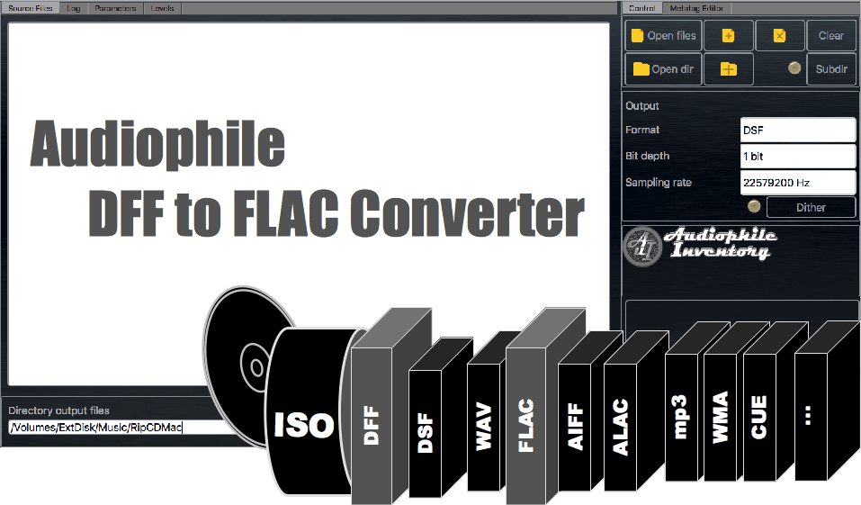 DFF to FLAC converter audio