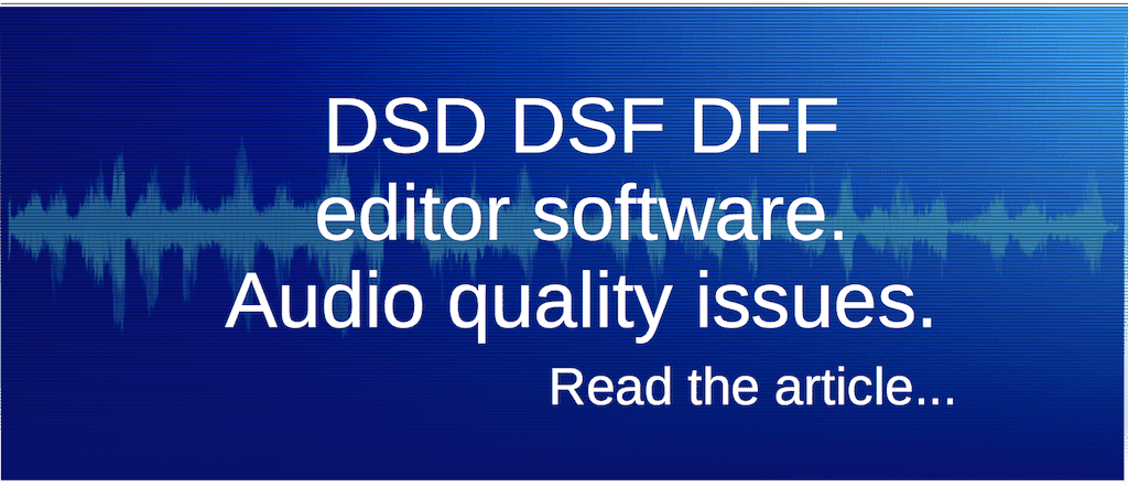 DSD DSF DFF Editor Software