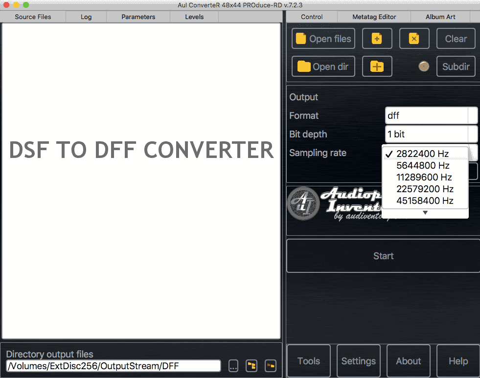 DSF to DFF converter [Mac, Windows]