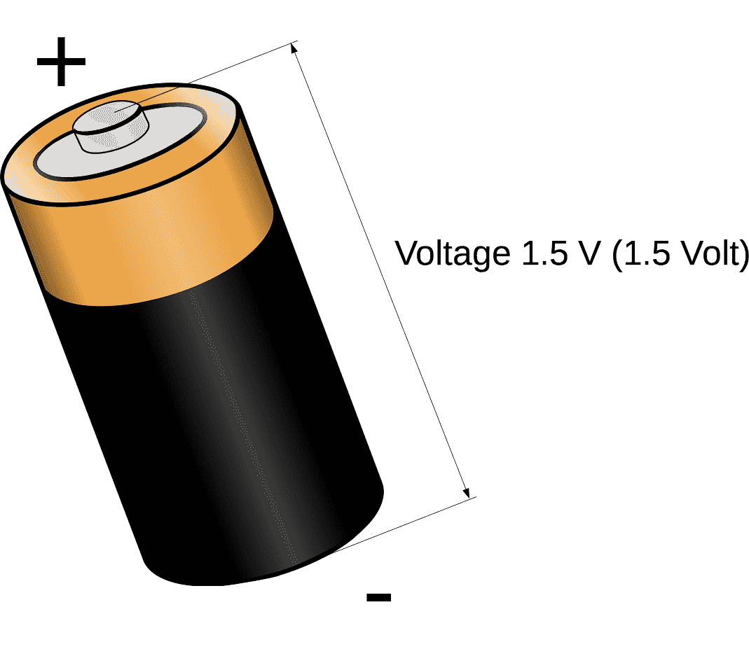 Voltage electrical battery