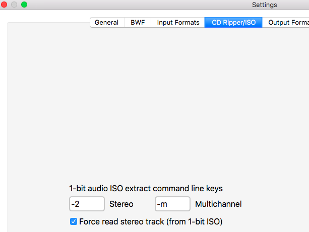 Extract ISO to stereo tracks