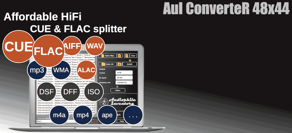 CUE Splitter FLAC DSF mp3 | Mac, Windows | Read Quick Guide