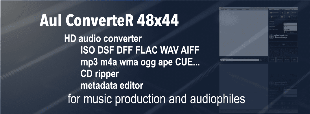 HD audio converter software - AuI ConverteR 48x44