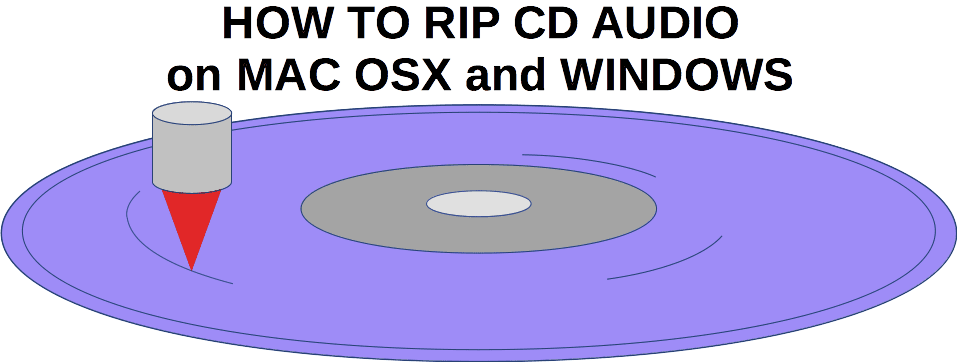How to rip CD audio on Mac OSX and Windows