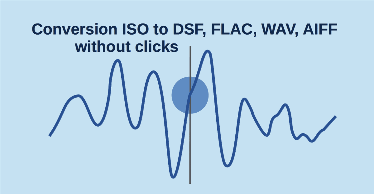 Conversion ISO to DSF FLAC WAV AIFF. User manual