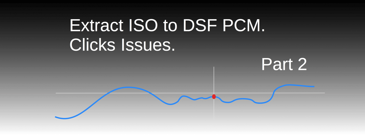 Extract ISO to DSF PCM. Click Issues. Part 2