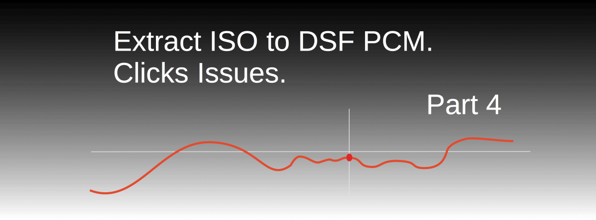 Extract ISO to DSF PCM. Click Issues. Part 4
