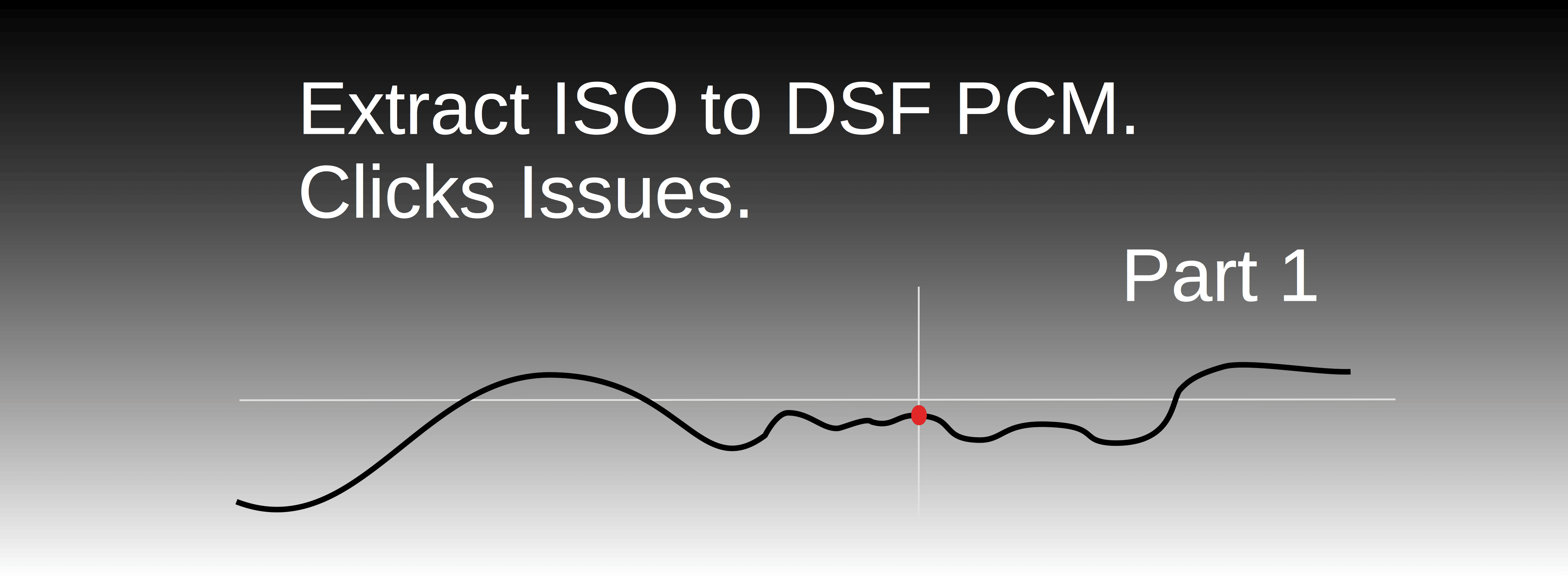 Extract ISO to DSF PCM. Click Issues