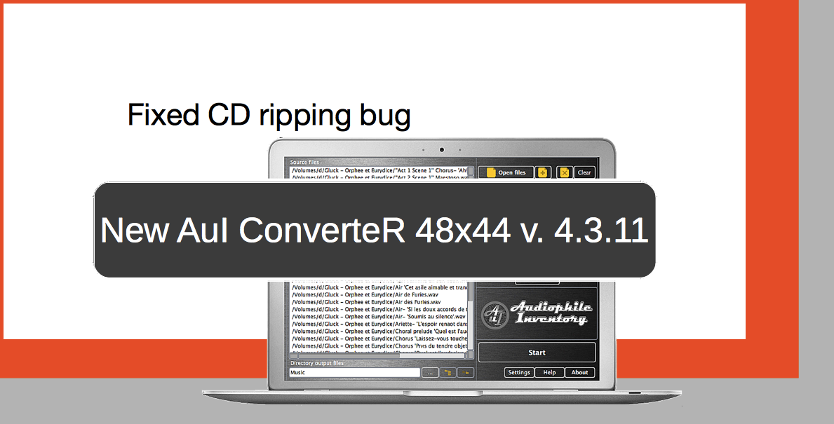 Audio converter AuI ConverteR 48x44 v.4.3.11. Fixed trouble of CD ripper