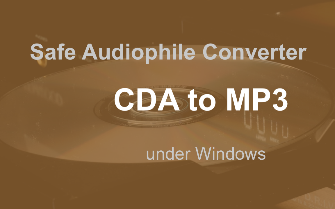 Converter CDA to mp3 for Windows 10