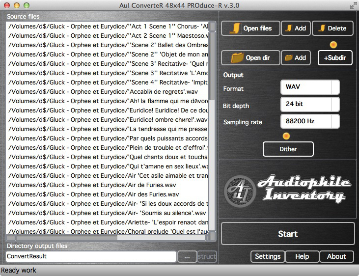 AuI ConverteR 48x44 - audio converter for music server